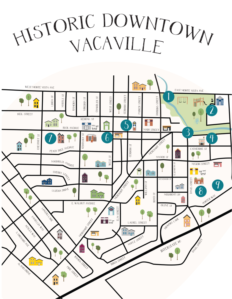 Downtown Vacaville Map