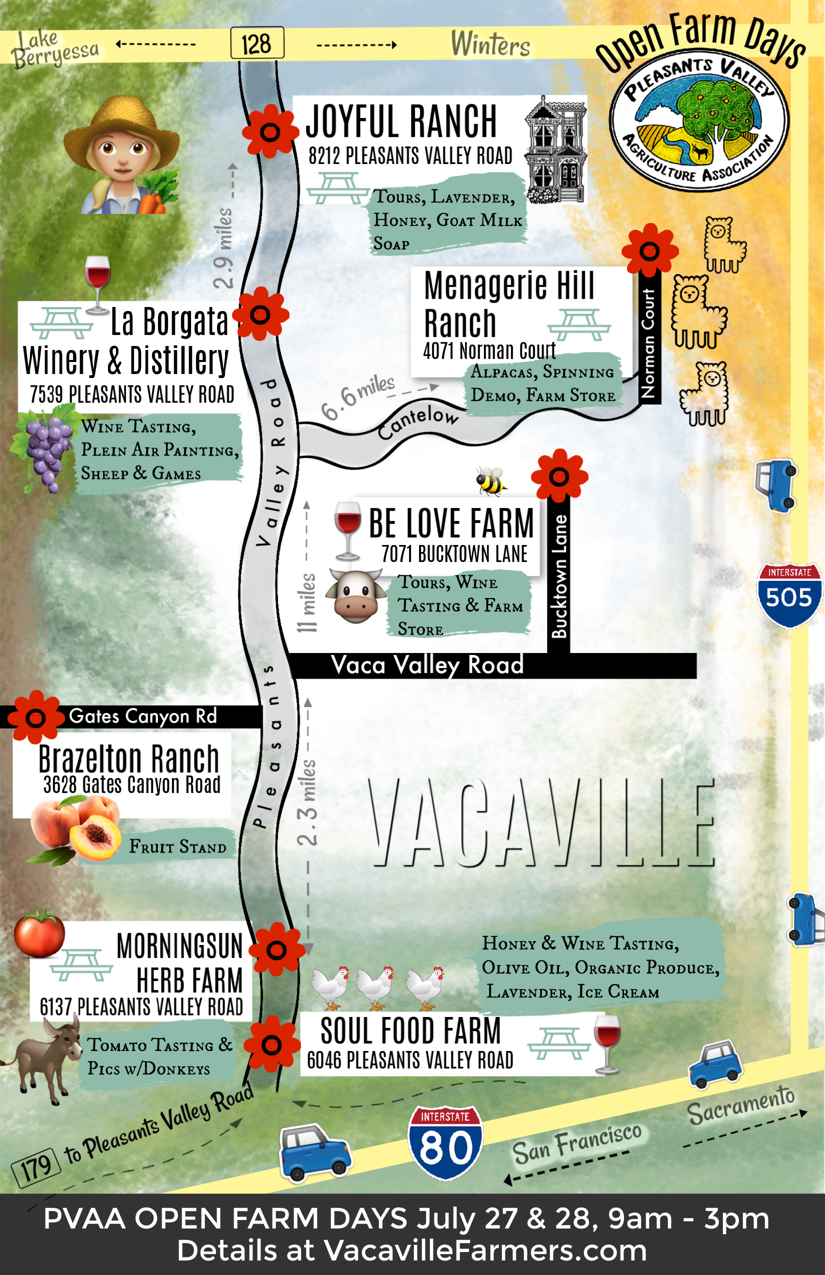 Map Of California Vacaville.Open Farm Days In Vacaville Visit Vacaville Events Calendar