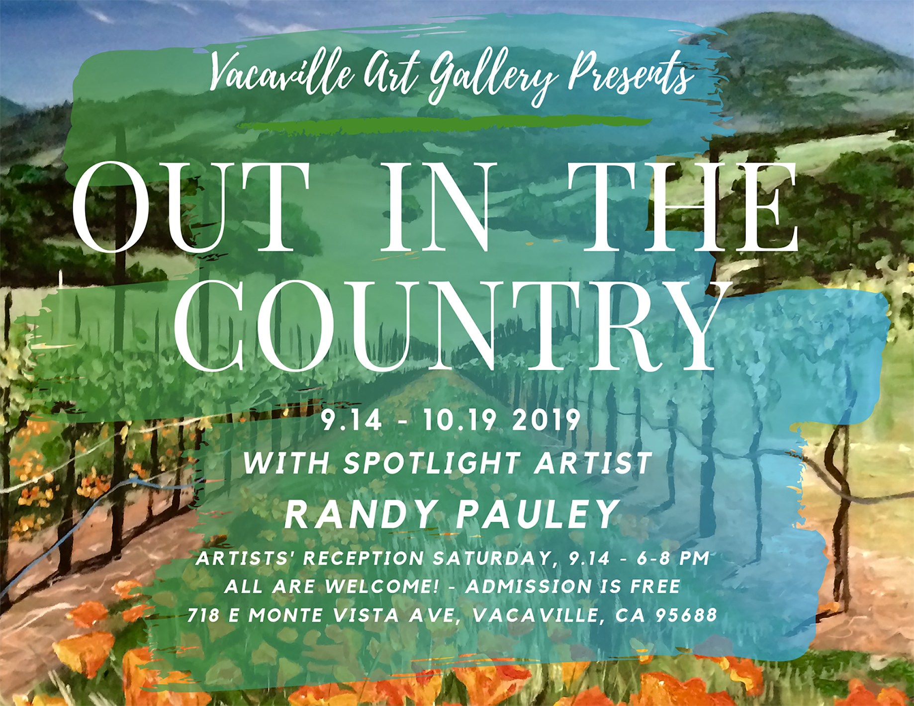 Vacaville Art Gallery Presents Out in the Country